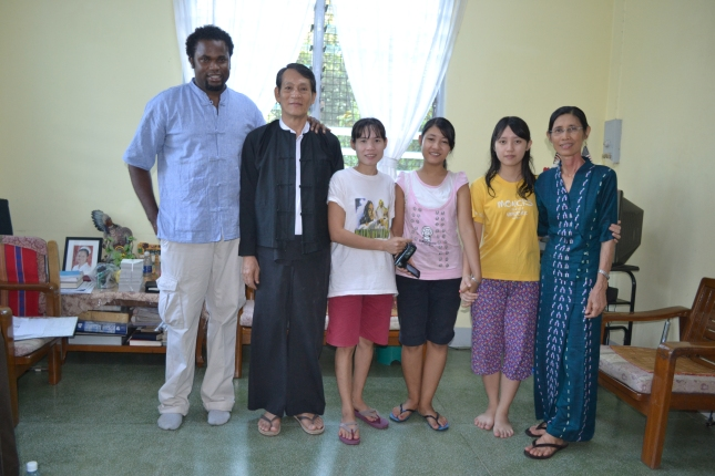 Some of my new family in Burma