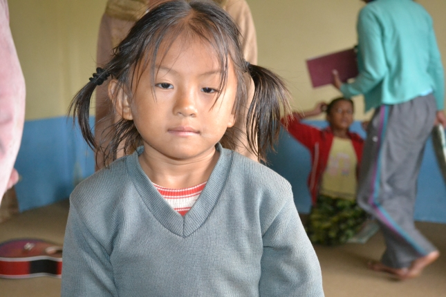 Young Orphan Girl In Nepal