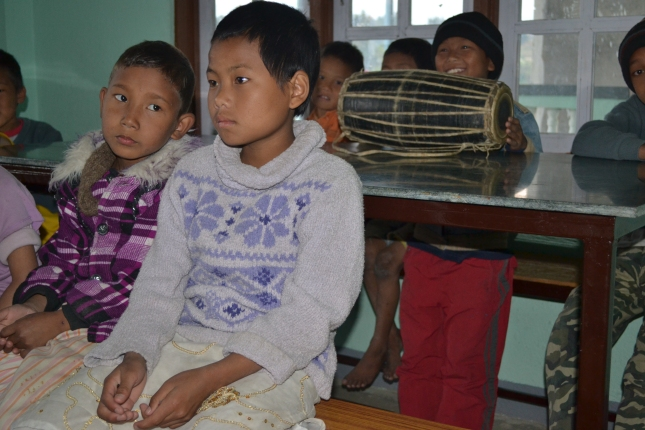 Orphan Girl In A Small Nepali Orphanage