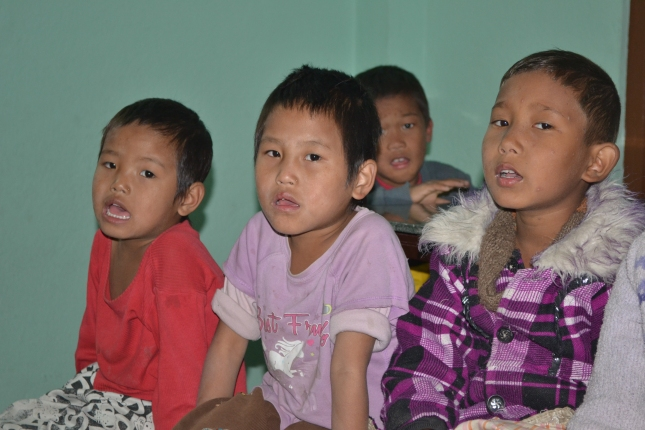 Orphans In A Small Nepali Orphanage