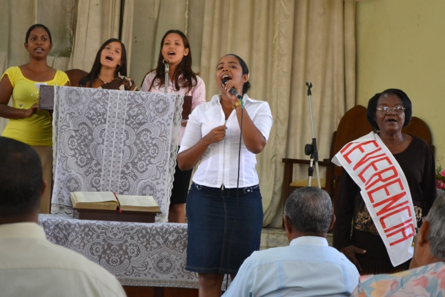 Young People Singing On Sabbath Morning