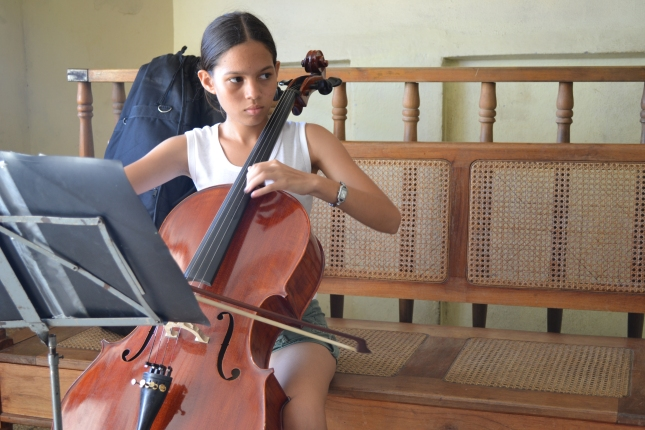 Young Cuban Cello Player